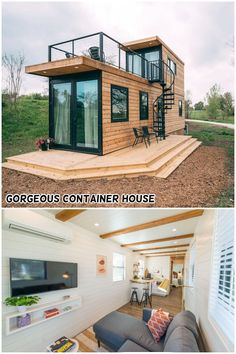 Absolutely Gorgeous Container House Helm 2 by CargoHome 😲 - Living in a Container Prefab Container Homes, Building A Container Home, Shipping Container House Plans, Container Buildings, Container Home Plans, Shipping Containers, Tyni House, Tiny House Cabin, Tiny House Living