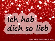 Ich Hab Dich Lieb Sprüche Pinterest Love Love You Und Lovers