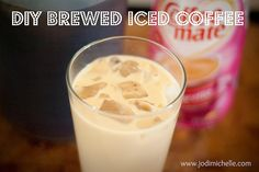 DIY brewed iced coffee at home with no special gadgets.