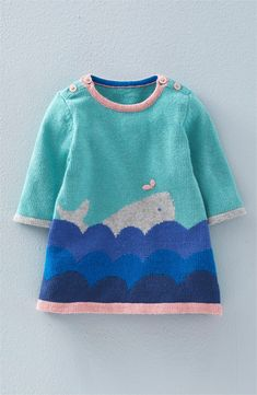 Mini Boden Intarsia Knit Sweater Dress (Baby Girls & Toddler Girls) | Nordstrom