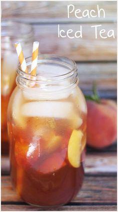 Easy Homemade Peach Iced Tea