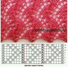 "pl - Scoprire, raccogliere, ispirando ""Fans of lace knitting pattern graph"", ""Jana has a wonderful collection of knitting s Lace Knitting Stitches, Lace Knitting Patterns, Knitting Charts, Lace Patterns, Crochet Blanket Patterns, Crochet Shawl, Hand Knitting, Stitch Patterns, Kids Knitting"
