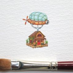 My name is Holzenburg. My piece of artwork is known for a tiny watercolor paintings on paper. I have to work every day for a few hours with tiny brushes and watercolors.