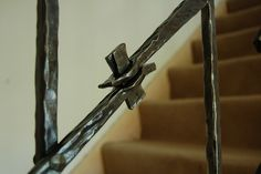 """Detail from """"Handshake"""" Banister by Adrian The Smith at Trinity Forge, via Flickr"""
