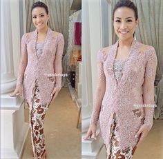 Kebaya Indonesia Dress Brokat Modern, Kebaya Modern Dress, Kebaya Dress, Vera Kebaya, Batik Kebaya, Batik Dress, Kebaya Jawa, Model Kebaya Modern, Indonesian Kebaya