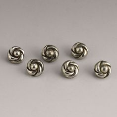 William Spratling silver knot buttons