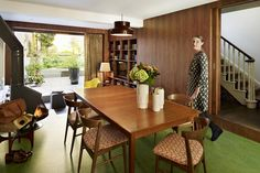 Inside Orla Kiely's house Orla Kiely in the dining room. Photographed by Darren Chung
