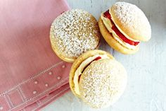 Strawberries & cream whoopies