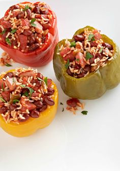 Slow-Cooker Jambalaya-Stuffed Peppers – Dinnertime just got more colorful with these peppers stuffed with a Cajun-style jambalaya stuffing! Plus, they're a Healthy Living recipe.