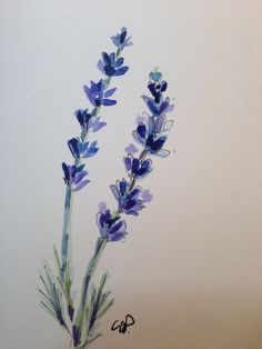 Lavender Watercolor Card by gardenblooms on Etsy