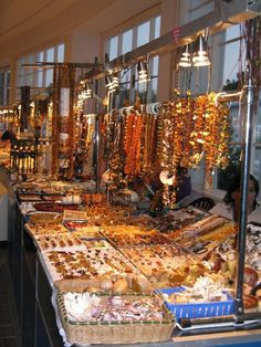 """Buy beautiful amber jewelry while on """"Coastal Cooking in Pomerania and Gdansk"""" culinary vacation in Poland. http://www.polandculinaryvacations.com/vacation_detail.php?id=24"""