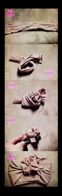 How to make a no sew baby headband