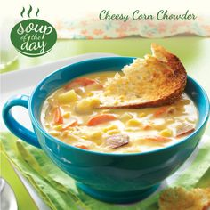 Cheesy Corn Chowder Recipe from Taste of Home -- shared by Lola Comer, Marysville, Washington