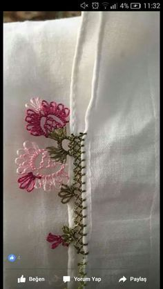 This Pin was discovered by Lal Needle Lace, Bobbin Lace, Needle And Thread, Crochet Flower Tutorial, Crochet Flowers, Hobbies And Crafts, Diy And Crafts, Crochet Curtains, Diy Scarf