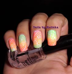 Nails by Malinka: Neon en Big SdP-B2