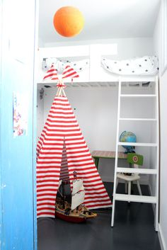 Teepee Tent  MIDI size  RedWhite stripes by moozlehome on Etsy