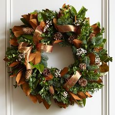 Copper Ribbon Wreath | Williams-Sonoma
