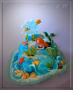 "Cake ""The Little Mermaid"" - by SPechenkina @ CakesDecor.com - cake decorating website"
