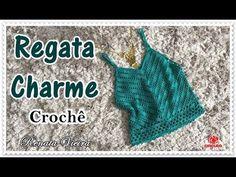 Regata Charme crochê - 01 NOVELO - Renata Vieira