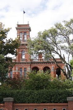 """Raheen is an historic 19th-century Italianate mansion located at 92 Studley Park Road in the Melbourne, Australia, suburb of Kew. It was built in the 1870s, and its name means """"little fort"""" in Gaelic. The first section of Raheen was commenced in 1870 with an extension added in 1884. It was designed by William Salway and built for Edward Latham of the Carlton Brewery. Sir Henry Wrixon, prominent Melbourne barrister and solicitor, later owned and resided at the property."""