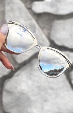 f93305ee8a7 Candy Sunnies - Silver Mercury These women Topfoxx Sunglasses are  reflective eyewear in chrome.