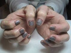 A dry manicure complete with CND Shellac 'Rubble' & 'Ice Vapor' nail polish
