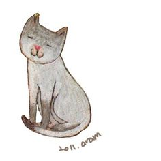 Aram Kim illustration: rain or shine, write and draw.: cat drawing for children's book