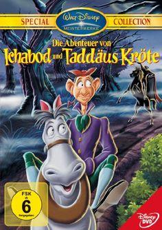 """""""Ichabod and Mr.Toad"""": Taddäus Kröte sieht von seiner Kutsche zum ersten Mal ein Automobil. Er fantasiert von dem Wagen, wird am nächsten Morgen angeklagt, eins gestohlen zu haben, und verurteilt. Freund Cyril, sein Pferd, verhilft ihm zur Flucht. Sie beweisen Taddäus' Unschuld. - """"The Legend of Sleepy Hollow"""""""