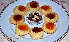 Cookies with coconut & jam or almonds & jam  migdale maruntite/nuca de cocos