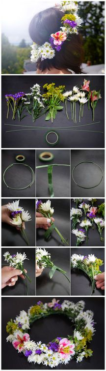 Flower headband!! So gonna make these this summer!!!