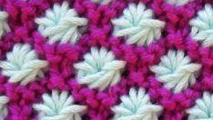 Yıldız Çiçeği Örgü Modeli Yapılışı