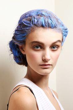 blue hair paint