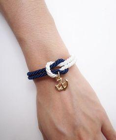 nautical bracelet anchor bracelet sailor bracelet by MustMuseMost, $11.00