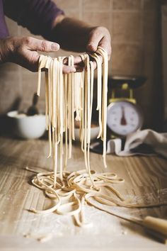 Traditional Italian home made pasta