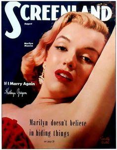 Screenland - August 1952, USA magazine. Cover girl, Marilyn Monroe <3