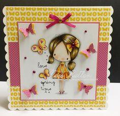 All dressed up/ digi/ stamp/ image/ Wendy Burns/ Polychromos pencils/ Ness Butler