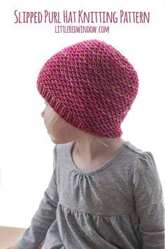 This simple Slipped Purl Hat knitting pattern (also known as the slipped honeycomb stitch) is so easy but so intricate and delicate looking. It makes a wonderful gift for your favorite newborn, baby or toddler!