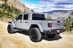 Get off the beaten path! Sting Gray Lifted 2020 Jeep Gladiator on New Jeep Wrangler, Jeep Rubicon, Jeep Jk, Jeep Truck, 4x4 Trucks, Lifted Trucks, Jeep Scout, Jeep Garage, Badass Jeep
