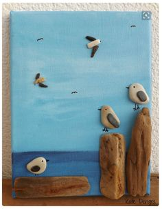 STRATEGIES for Painted Pebble and River Natural stone Crafts easy stone painting designs Pebble Pictures, Stone Pictures, Canvas Pictures, Beach Pictures, Caillou Roche, Art Rupestre, Art Pierre, Rock And Pebbles, Driftwood Crafts