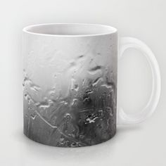 Dirty Glass and Water Drops - Black&White Mug - $15.00