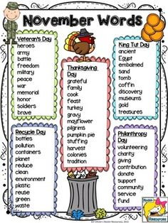list of vocabulary words for creative writing