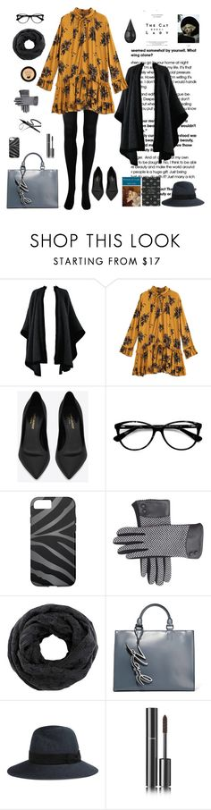 """""""The Portrait of a Lady"""" by ms-wednesday-addams ❤ liked on Polyvore featuring Yves Saint Laurent, Ace, Karl Lagerfeld, Maison Michel, Chanel, La Prairie, Sessions and CO"""