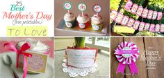 AMAZING group of Mother's Day printables.
