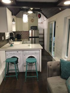 Tiny House Interior images via tiny house living hip east side tiny pad interior Open Concept Rustic Modern Tiny House 2017 99 Photo Tour And Sources 35