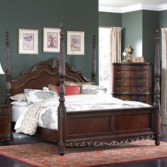 Astoria Grand Chalus Four Poster Bed Size: Queen