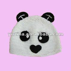 Lindo!! El diseño de oso panda baby crochet sombrero bebé sombrero de lana  para… 4c46c1de0b2