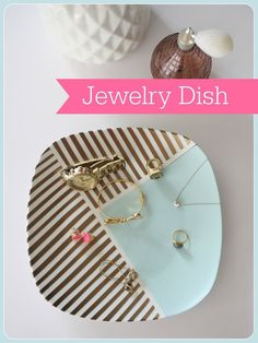 upcycled plate used for jewelry catch-all