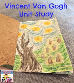 Vincent VanGogh is a fascinating man, and kids have a lot of fun imitating his artwork using chalk pastels. Kindergarten Art, Preschool Art, History For Kids, Art History, 7 Arts, 3rd Grade Art, Second Grade, Van Gogh Art, Art Studies
