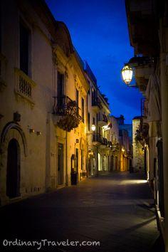 Corso Umberto at Magic Hour in Taormina, Sicily
