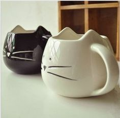 drinkware Zakka Iotion cup cat black and white animal cup glass ceramic lovers mug cup mug teapot mug-inMugs from Home & Garden on Aliexpres...
